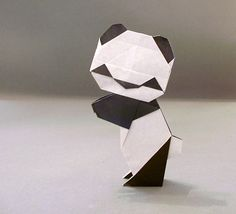 Origami Panda by Steve Biddle Folded from 2 squares of origami paper by Gilad Aharoni on www.giladorigami.com