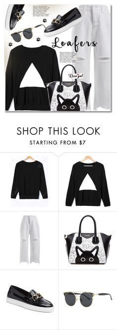 """""""Rosegal"""" by svijetlana ❤ liked on Polyvore featuring Tommy Hilfiger and loafers"""
