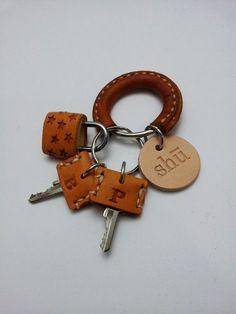 kožený razítko na hlavním klíčem: