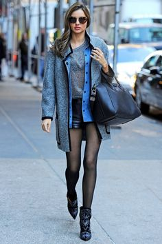 Primary Colors - Week of November 12, 2012: WHO: Miranda Kerr WHAT: Isabel Marant jacket and boots, Givenchy bag WHERE: On the street, New York WHEN: November 6, 2012