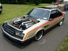 Ford fox body mustang #slammed