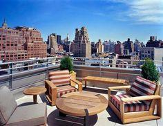 Rooftop bar Gansevoort Hotel New York