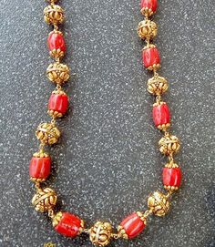 Beads Necklaces by SVTM – jewelry Pearl Necklace Designs, Gold Earrings Designs, Gold Jewellery Design, Bead Jewellery, Beaded Jewelry, Jewellery Boxes, Beaded Necklaces, Handmade Jewellery, Jewelery