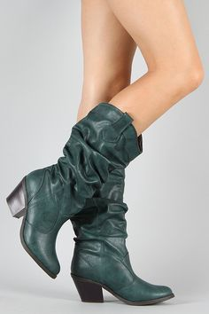 Western Cowboy Slouchy Knee High Boot