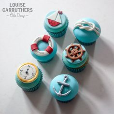 Cupcakes - We Are Sailing << By Louise Carruthers Cake Design www.louisecarruthers.co.uk