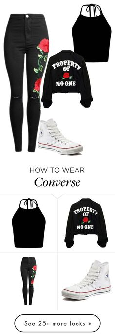 """Untitled #614"" by aya-omar on Polyvore featuring Converse"
