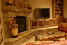 Corner Fireplace With Built Ins Design Ideas, Pictures, Remodel, and Decor - page 3