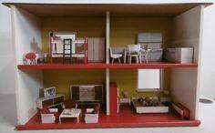 RAR orig. 60er J. Einzigartiges riesen Puppenhaus Puppenstube 2 Stöcke 47x94x80 | Spielzeug, Puppenstuben & -häuser, Möbel | eBay!