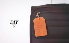 DIY Leather Stamped Personalized Luggage Tag!