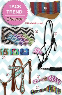 NEW chevron tack! What do you think of this trend?