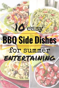 10 Easy BBQ Side Dishes for Summer Entertaining Side Dishes For Bbq, Vegetable Side Dishes, Side Dish Recipes, Side Dishes For Burgers, Camping Side Dishes, Main Dishes, Foil Potatoes On Grill, Healthy Fruits And Vegetables, Veggies
