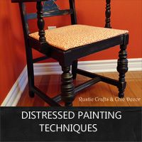 distressed painting techniques for furniture and other home decor items