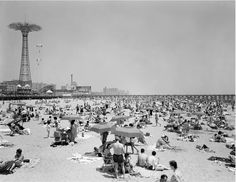 Parachute Jump and Beach Scene, Coney Island, ca. 1965, by 20x200 Artist Fund - 20x200 (from $24)