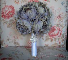 Lavender Peony Wedding Bouquet  Shabby Chic Bridal by KateSaidYes, $110.00