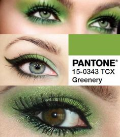 #EyeMakeup inspo based on, 'Greenery'— #Pantone's 2017 Colour of the Year.