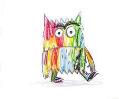 Este es el monstruo de colores.   Hoy se ha levantado raro,  confuso,  aturdido. .. No sabe muy bien qué le pasa.