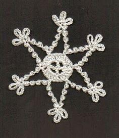 BRENDAS DESIGNS 1961: June: Free Crochet Snowflake Pattern
