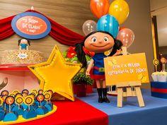 Detalhes da Festa Infantil com tema Show da Luna da Festeirice: a estrela que acende, dá um show a parte ;-)