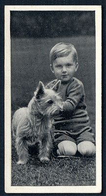 Its so funny to see a child and a dog on something representing cigarettes. This is DEF vintage!! CAIRN TERRIER DOGS & FRI...