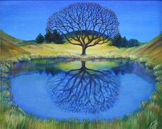 NELLY TSENOVA landscape tree art.