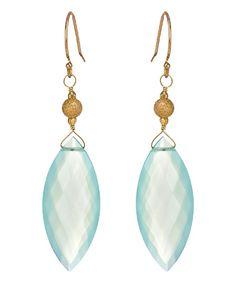 Shamila Fine Jewelry Blue Marquise Drop Earrings