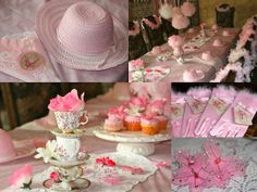 It was my great pleasure to do this Vintage-inspired tea party 2 weeks ago. The client wanted a classic tea party to celebrate the birthd. Tea Party Crafts, Tea Party Decorations, Party Favors, Party Hats, Girls Tea Party, Princess Tea Party, Tea Table Settings, Tea Party Bridal Shower, Birthday Parties