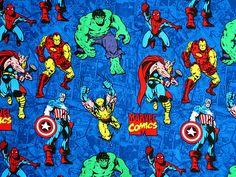 MARVEL COMIC STRIP COTTON FABRIC SUPER HERO LEGION OF HEROES SUPERHERO YARDAGE on eBay!