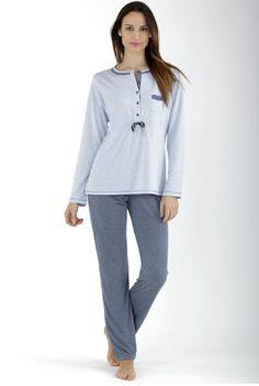 Pijama lencero mujer Massana celeste