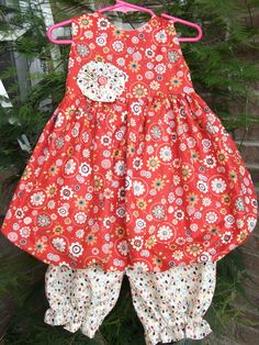Bubble dress with pantaloons by SewTerrificAndSuch on Etsy, $35.00