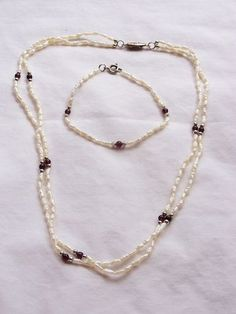 garnet and pearls