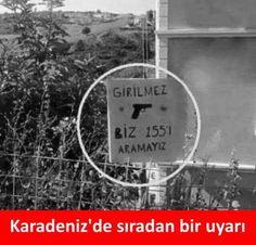 Karadeniz'de sıradan bir uyarı.  (Girilmez, biz 155'i aramayız!)  #karikatür #mizah #matrak #komik #espri #şaka #gırgır #komiksözler #caps