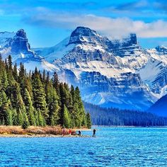 Have an adventure at Maligne Lake in Alberta, #Canada. Alberta's also home to some of T+L's favorite winter scenes. Photo courtesy of mthiessen on Instagram.