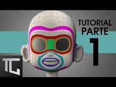 TUTORIAL TOPOLOGÍA BÁSICA EN TOPOGUN PARA RIG FACIAL ::: Parte 1 - YouTube