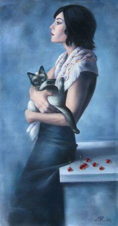 Ema Radovanovic - Siamese and She, 2009 - oil on canvas