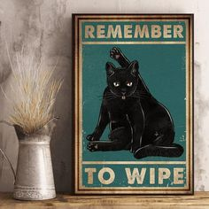Bathroom Wall Art, Bathroom Humor, Crazy Cat Lady, Crazy Cats, Cat Posters, Here Kitty Kitty, Wall Art Quotes, Retro, Museum