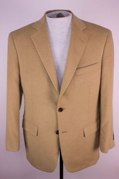Brooks Brothers Mens 38S Brown Madison Fit Camel Hair Blazer Jacket Sports Coat  #BrooksBrothers #TwoButton