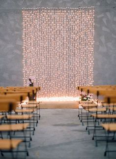 wedding decor inspiration from string lights displays