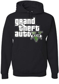 GTA V Grand Theft Auto Five Sweatshirt Hoodie in Black by IbraMark, $29.99