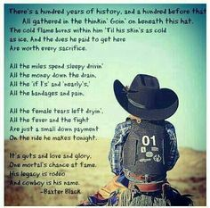 Rodeo. I used to read this when I was a little girl from my Granddaddy's cowboy poetry book. Love it!!