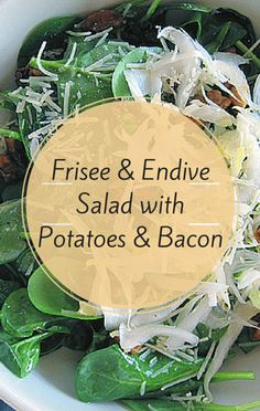 While sharing family-style recipes on The Chew, Daphne Oz prepared a salad taken to the next level with candied bacon! Her Frisee and Endive Salad with Potatoes and Bacon is practically a meal on its own!