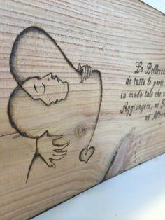 """Pyrography gift #2 """"La Bellezza è la somma di tutte le parti messe insieme in modo tale che non è necessario aggiungere, nè togliere niente, nè alterare."""" L.B.Alberti  http://www.facebook.com/laraartistjournal"""