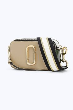 The Snapshot Small Camera Bag, a small camera-style bag in Saffiano leather with an adjustable crossbody strap. Marc Jacobs Snapshot Bag, Marc Jacobs Bag, Violet Chachki, Small Camera, Stylish Handbags, Powder Pink, Green Bag, Pandora Jewelry, Midnight Blue