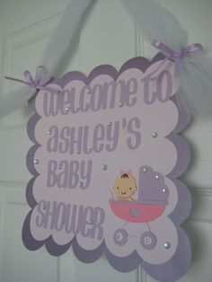 Baby Shower Welcome Sign Baby Girl by PoshPaperPartiesCo, $25.00