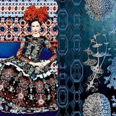 Gorgeous by textile designer Irene van Vliet. What Is Trending Now, Fashion Art, Fashion Design, Pattern Making, Beaded Embroidery, Textile Design, House Colors, Clothing Patterns, Cool Style