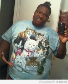 haha man I wish I was this gangster. I wonder where he got that awesome shirt...