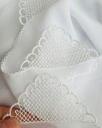 İğne Oyası Namaz Tülbenti Yapılışı - Tie Tutorial and Ideas Irish Crochet, Crochet Motif, Crochet Stitches, Embroidery Stitches, Hand Embroidery, Crochet Patterns, Needle Tatting, Needle Lace, Bobbin Lace