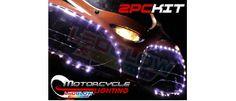 WHITE MOTORCYCLE LED FLEXIBLE HEADLIGHT STRIP KIT White Motorcycle, Led Light Kits, Led Headlights