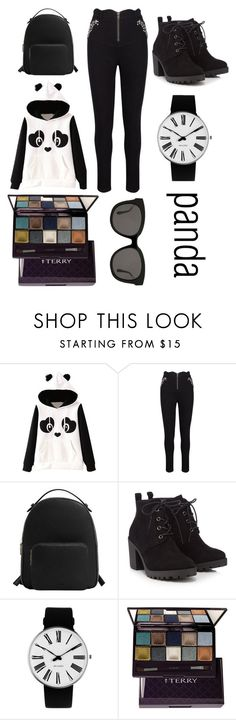 """panda"" by liberianne ❤ liked on Polyvore featuring MANGO, Red Herring, Rosendahl, By Terry, Gentle Monster, girly and panda"