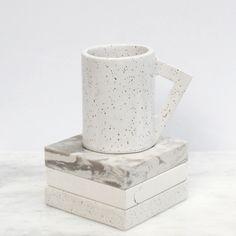 Angle Handle Mug ~ White Gloss — Lindsey Hampton