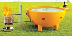 Portable Fire Hot Tub – Keep up with the times.